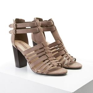 Forever 21 Faux Suede Caged Sandals